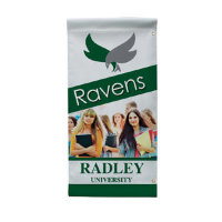 "18"" x 36"" 18 oz. Opaque Material Boulevard Single-Sided Banner"