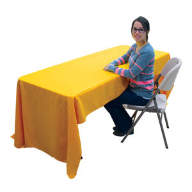 6' Economy Table Throw Dye-Sublimated (Full-Color, Full Bleed) - 6' Economy Table Throw Dye-Sublimated (Full-Color, Full Bleed)