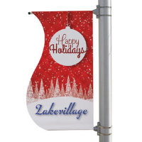 "24"" x 48"" 18 oz Opaque Vinyl S-Shaped Boulevard Double-Sided Banner"