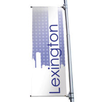 "24"" x 60"" 18 oz. Opaque Material Boulevard Single-Sided Banner"