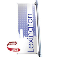 "24"" x 60"" 18 oz. Opaque Material Boulevard Double-Sided Banner"