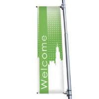 "24"" x 72"" 18 oz. Opaque Material Boulevard Single-Sided Banner"