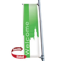 "24"" x 72"" 18 oz. Opaque Material Boulevard Double-Sided Banner"