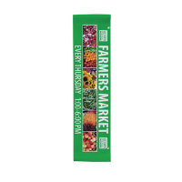 "24"" x 96"" 18 oz. Opaque Material Boulevard Single-Sided Banner"