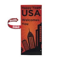 "30"" x 72"" 18 oz. Opaque Material Boulevard Double-Sided Banner"