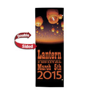 "30"" X 84"" 18 oz. Opaque Material Boulevard Double-Sided Banner"