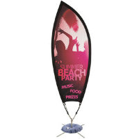 9' Petal Sail Sign Mesh Banner Kit Single-Sided with Scissor Base