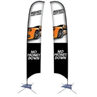 17' Razor Sail Sign Kit Double-Sided with Scissor Base